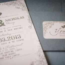 Let our Invites Inspired Your Entire Wedding Celebration
