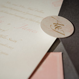 Elegant Blooms with metallic(gold) and metallic(shadow) envelope